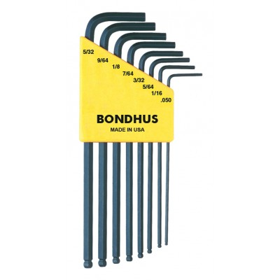 Bondhus Set 8 Ball End L-wrenches .050-5/32""