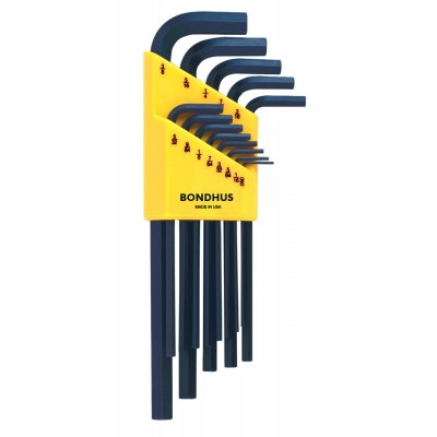 "Bondhus Set 13 Hex L-wrenches (.050-3/8"") - Long"