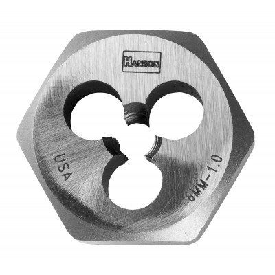 "IRWIN-HANSON DIE 5/16""-18 (USS National Course-High Carbon Steel), 1"" Hexagon Fractional Die 9427"