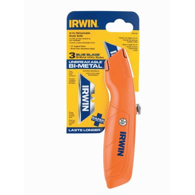 Irwin High Visibility Retractable Knife, Standard Grip 2082300