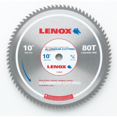 "LENOX 14"" x 80T 21892AL140080CT Aluminum-Copper-Brass Metal Cutting Circular Saw Blade-Wrench Rating: Superior"