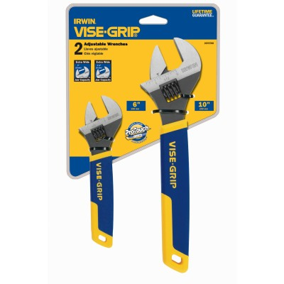 "IRWIN 2PC ADJUSTABLE WRENCH SET-6"" + 10"" -"" 2078700"