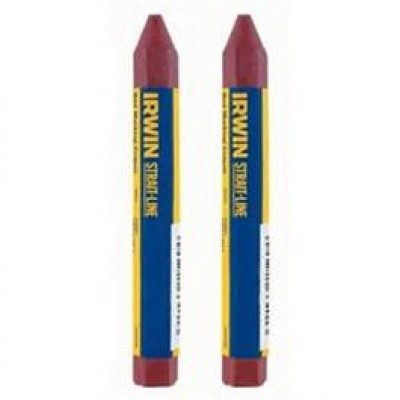 Irwin 2 pk. Red Crayon 666012