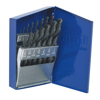 Irwin 63537 15 PC, Heavy Duty Premium HSS Drill Bit Set, Wrench Rating: Excellent