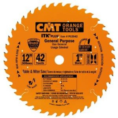 "CMT Contractor ITK-Plus 2"" x 42T x 1"" General Purpose Blade P12042 Wrench Rating: Better"