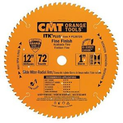 "CMT Contractor ITK-Plus 12"" x 72T x 1"" Finish Sliding Compound Miter P12072S Wrench Rating: Better"