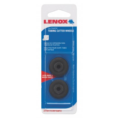 Lenox Tools Replacement Wheel for Tubing Cutters, Plastic Cutting, 2-Pack 21191TCW158P2