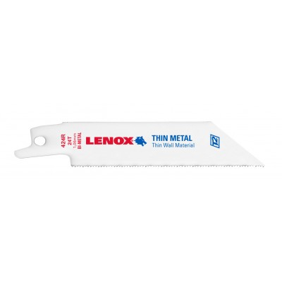 "Lenox 4"" Thin/Sheet Metal Cuts Saw Blade Reciprocating 24 TPI 20554424R 5/PK"