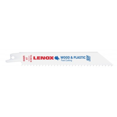"Lenox 6"" Wood-Plastics & Composites Reciprocating Saw Blade 6 TPI 20559S606R"